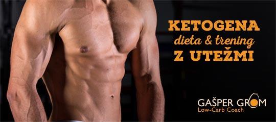 Ketogena dieta in trening z utežmi