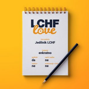 LCHF svetovanje jedilnik LCHF