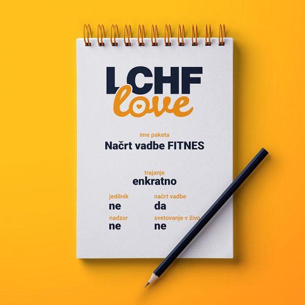 LCHF načrt vadbe FITNES