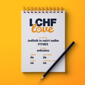 LCHF svetovanje jedilnik in načrt vadbe FITNES