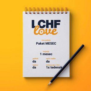 LCHF svetovanje paket MESEC