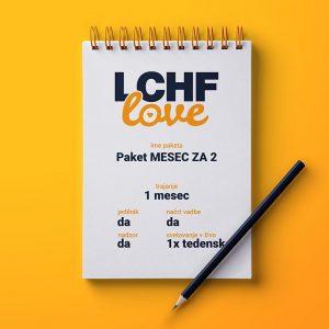 LCHF svetovanje paket MESEC za 2