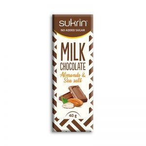Sukrin čokolada z mandlji