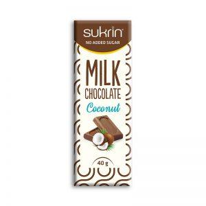Sukrin mlečna čokolada s kokosom
