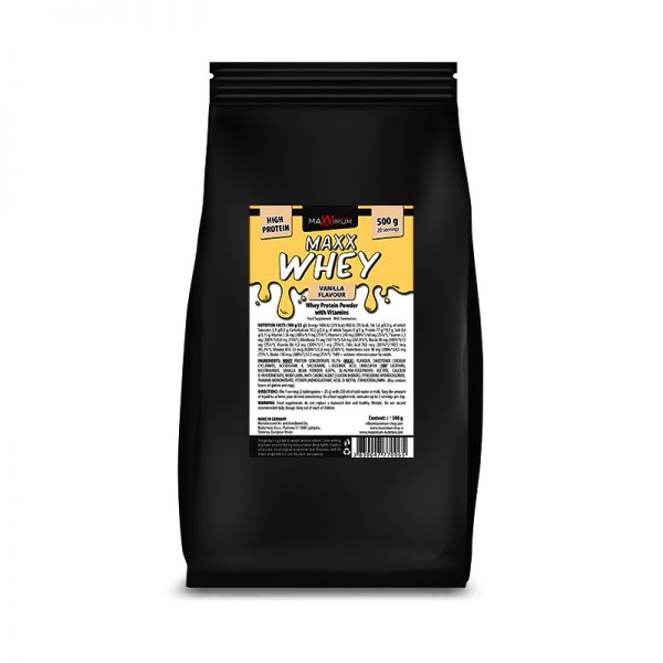 Maxx Whey 500 g - okus vanilja, Maxximum Nutrition