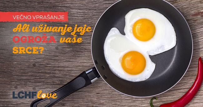 Jajca ne ogrožajo vašega srca