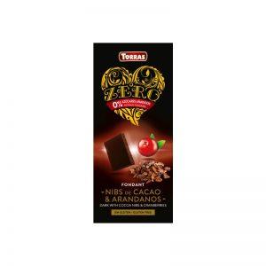 Torras temna čokolada s kakavovimi drobci in brusnicami 125 g