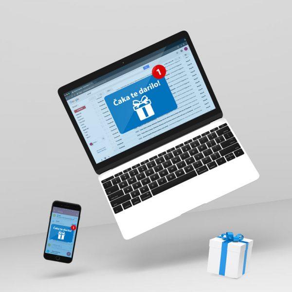Darilni bon po e-pošti