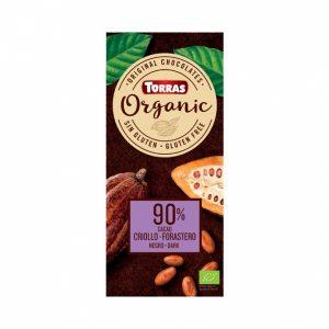 Bio temna čokolada z 90% kakava 100 g, Torras