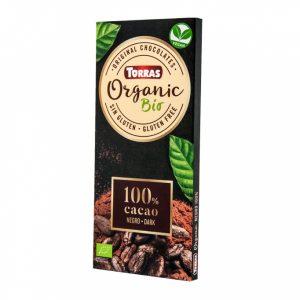 Bio temna čokolada (100% kakava) 100 g, Torras