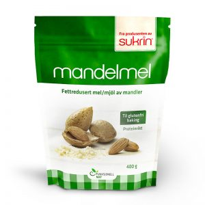Razmaščena mandljeva moka, Sukrin